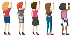 Stock Illustration of Faceless ladies