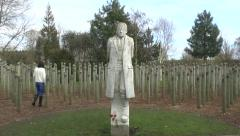 The Shot At Dawn Memorial, National Memorial Arboretum, Alrewas, UK Stock Footage