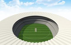 Cricket Stadium Day - stock illustration