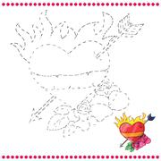 Connect the dots and coloring page Stock Illustration