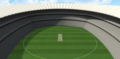 Stock Illustration of Cricket Stadium Day