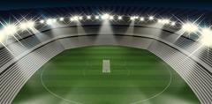 Cricket Stadium Night - stock illustration