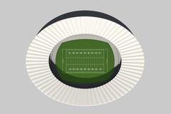 Football Stadium Day - stock illustration