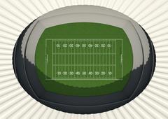 Football Stadium Day Stock Illustration
