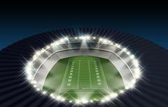 Football Stadium Night Stock Illustration