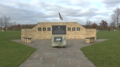 Falklands War memorial, National Memorial Arboretum, Alrewas, Staffordshire, UK Stock Footage