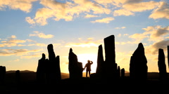 Isle Lewis Outer Hebrides Callanish Standing Stones Scotland UK Stock Footage