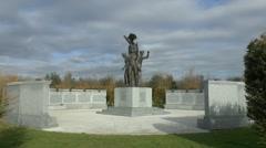The Polish Forces War Memorial, National Memorial Arboretum, Alrewas, UK Stock Footage