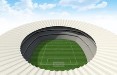 Soccer Stadium Day Stock Illustration