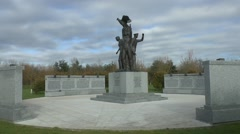 The Polish Forces War Memorial, National Memorial Arboretum, Alrewas, UK Stock Footage