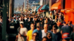 Venice Beach Boardwalk People Walking Stock Footage