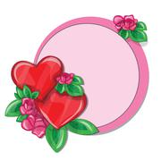 Valentine greeting card with hearts Stock Illustration