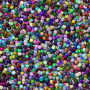 Seamless 3D colored balls background - stock illustration