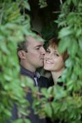 gentle kiss - stock photo
