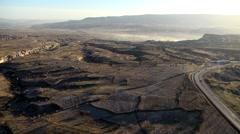 Baloon in Cappadocia Valley - stock footage