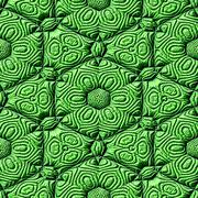 Green seamless mayan texture - stock illustration