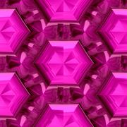 Pink diamond seamless mayan texture - stock illustration