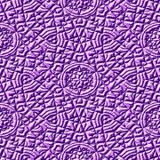 Purple seamless mayan texture - stock illustration