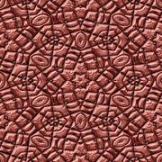 Brown seamless mayan texture - stock illustration