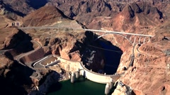 Hoover Dam Aerial - stock footage