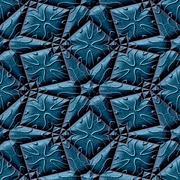 Blue seamless mayan texture Stock Illustration