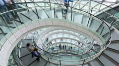 London UK England Europe GLC building Spiral Staircase TL Stock Footage