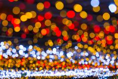 Stock Photo of Circular bokeh background of Christmaslight.