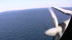Italian Airforce control immigration on mediterranean sea Stock Footage