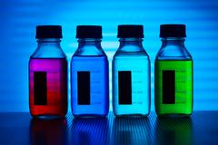 Set of of food colorants, food additives Stock Photos