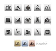 Business & Finance // Metallic Series Stock Illustration