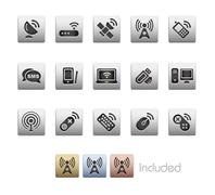 Wireless & Communications // Metallic Series - stock illustration