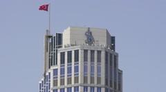 Isbankasi Tower, Skyscraper in Istanbul, Turkey Stock Footage