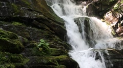 Beautiful waterfall in Carpathian Mountains, Ukraine Stock Footage