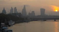 London UK England Europe Bridge River Thames St Pauls TL - stock footage