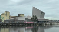 The Imperial War Museum North, Trafford, Manchester, UK. Stock Footage