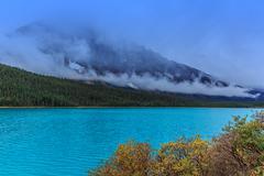 Waterfowl Lake - stock photo