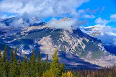 Canadian Rockies Mountains - stock photo