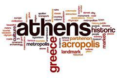 Athens word cloud - stock illustration