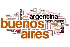 Buenos Aires word cloud Stock Illustration