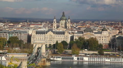 St. Stephen (St. Istvan) Basilica in Budapest, Hungary Stock Footage