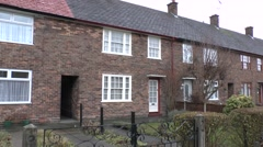The childhood home of Paul McCartney in Liverpool, UK. Stock Footage