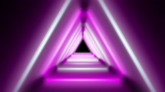 Pink and White Lamps Tunnel - stock footage