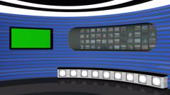 Virtual TV Studio Stock Footage