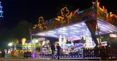 night light christmas fairy tale attraction 4k spain - stock footage