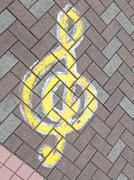 music treble clef - stock photo