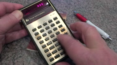 Vintage scientific calculator - stock footage