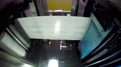 4k Printing press printing newspapers, uhd stock video LOOP Stock Footage