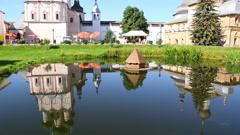 Reflection of Rostov Kremlin Stock Footage