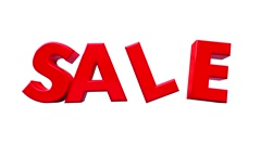 Big red word SALE. Stock Footage