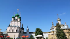 Rostov Kremlin and it Reflection Stock Footage